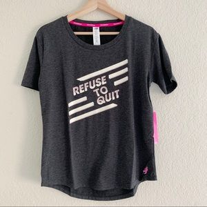 NEW BALANCE REFUSE TO QUIT TEE SHIRT TOP (0819)